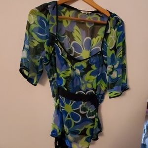 Capacity Unlimited Sheer Green Blouse